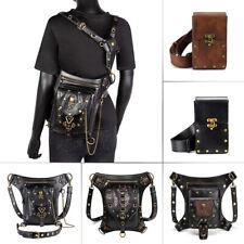 Leather Vintage Steampunk Waist Bag  Leg Hip Bags Gothic Handbag Backpack