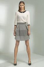 Jupe Mode Femme Patineuse évasée grise Motifs SP20 Nife taille 36 38 40 42 44
