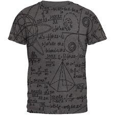 Math Geek Formulas All Over Dark Heather Soft Adult T-Shirt
