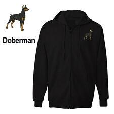DOBERMAN DOG ZIPPER HOODIE SWEATSHIRT JACKET TRAINING SHIRT