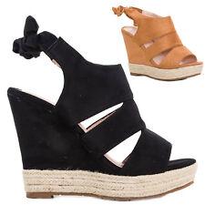 Chaussures femmes sandales chaussures à semelle compensée cuir écologique