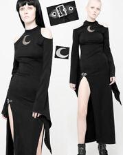 Robe longue fendue gothique lolita burlesque sexy lune sangle mystique Punkrave