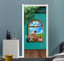 3D Window Horse 74 Door Wall Mural Photo Wall Sticker Decal Wall AJ WALLPAPER AU