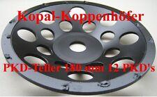 PKD-Schleifteller Schleiftopf mit 12 PKD-Segmenten 180 mm -Neu- Top !!