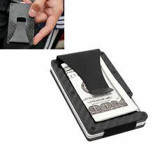 Carbon Fiber + Aluminum Metal Wallet RFID Blocking Credit Card Holder Money Clip