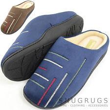 Para Hombre Microfibra Slip On mulas / Zapatillas con cálido micro forro polar