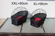 Hundefahrradkorb für Gepäckträger XXL oder XL Hundekorb Weidenkorb Fahrradkorb