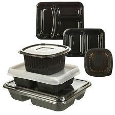 5-100 MICROONDE Caldo Freddo Cibo Container TAKEAWAY 1 2 3 SCOMPARTI CON COPERCHI