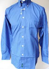 BEN SHERMAN Shirt Mens L/S Plain Shirt B/D Ocean Blue Sizes:S & XL