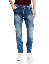 SEULEMENT & fils faisceau de Mens Jeans Slim Fit pantalons en Denim bleu moyen s'est évanouie à jambe étroite