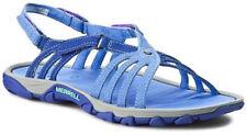 Merrell Enoki Link Light Blue Womens Hiking Beach Summer Leather Sandals UK4 - 5