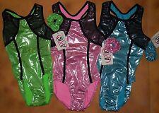 Nwt Axis Gymnastic Dance Foil Leotard 3 Color Choices Ladies/Girls Szs 74042