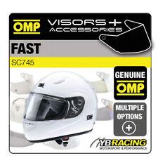 SC745 casco rápido OMP extra opcional Viseras Transparente/Ahumado/pivote pernos/omp