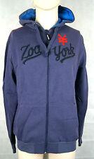 Zoo York Baseball Hooded Zip Herren Sweat Farbe Greyblue