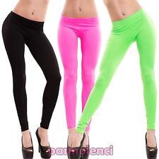 Leggings donna pantaloni skinny elasticizzati vari colori fluo sexy nuovi F2281