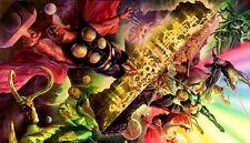 Marvel Thor Tales of Asgard Loki Odin Hela Rainbow Bridge Bifrost Canvas Art