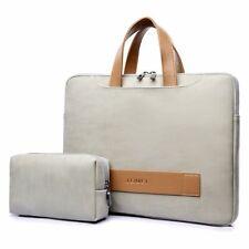 Women Laptop Leather Briefcase Portable Ultrathin Computer Retractable Handbag