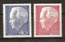 WEST BERLIN # 9N211-2 MNH PRESIDENT LUBKE
