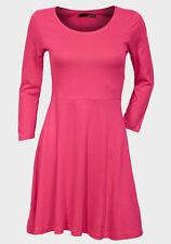 Womens Summer Cotton Round Neck T-Shirt Beach Dress Tunic Size 6 8 10 12 14 16