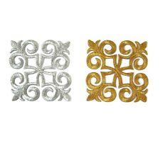 Gold Silver Iron On Embroidered Applique Smaller #13 Tutu Dance Costume Trim