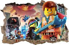 Adesivi Murali Buco nel muro LEGO decorazioni murali 54