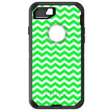OtterBox Defender for iPhone 6 6S 7 8 PLUS X Green White Chevron Stripes