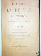FABRICATION DE LA FECULE ET DE L'AMIDON pomme de terre