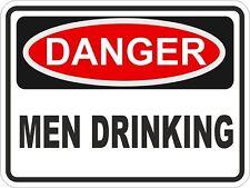 1x DANGER MEN DRINKING WARNING FUNNY VINYL STICKER CAR