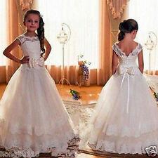 Robe de fille de fleur pour la célébration de mariage fête anniversaire communio
