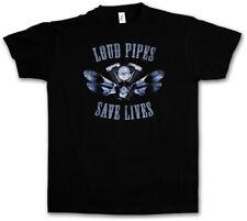 LOUD PIPES SAVE LIVES T-SHIRT Live To Ride MC Biker SAMCRO Rocker Club SOA