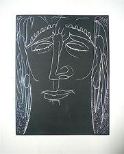 Henri de WAROQUIER Gravure signée datée 1946 erotic