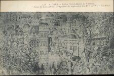 49 - cpa - SAUMUR - Eglise Notre Dame de Nantilly - Fragment de tapisserie
