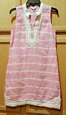 Crown & Ivy Pink/White Stripe Sleeveless Kurta Linen Dress - $89.50