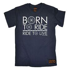 Born to ride ride to live T-SHIRT CICLISMO BICICLETTA BICI BMX regalo festa del papà
