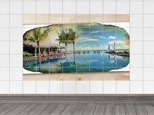 Fliesenaufkleber Fliesenbild Fliesensticker für Badezimmer Seestern Strand