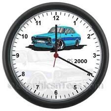 MK1 Escort RS2000 Blue Caricature Car Cartoon Wall Clock - Choice of Colours