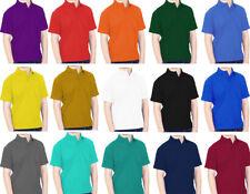 Polo Shirts Girls & Boys Uniform School Sports Colours 22-42 Sizes Top Quality