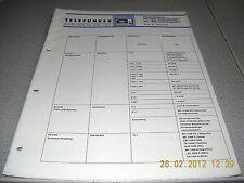 Telefunken Magnetophon hc1500 highcom tc450 highcom Service Manual