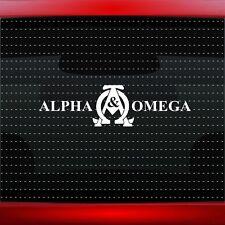 Alpha & Omega #2 Christian Car Decal Truck Window Vinyl Sticker (20 COLORS!)