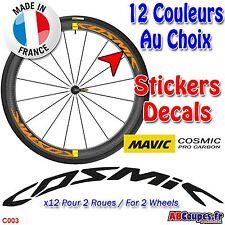 Autocollants roue MAVIC Cosmic Pro Carbon - Sticker Weel decals Rim SL C T -C003