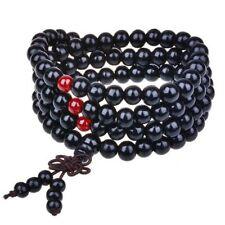 Black & Red Sandalwood Mala Beads, Wood Prayer Bead - 108 - Buddhist Meditation