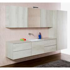 Composition de meubles pour salle de bains/laverie suspendue Unika270 en 3 coul.
