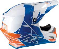 Z1R Rise Motorcycle MX ATV Helmet - Orange/Blue - All Sizes