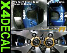 Pinza de freno Calcomanía stickerf o Opel vauxhaul OPC Touring Car FR 40mm re 30m Set