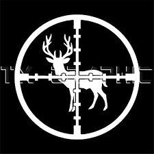CROSSHAIR  DEER HUNTING DECAL RIFLE GUN OUTDOOR SPORTS VINYL STICKER