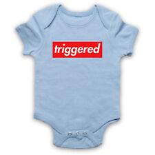 TRIGGERED MEME FUNNY SLOGAN UPSET TRIGGER WARNING BABY GROW SHOWER GIFT