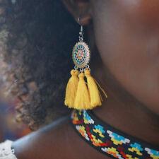 System Flower Tassel Earrings 1 Pair Bohemian Hollow-out Solar