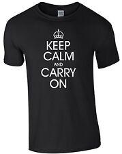 Keep Calm and Carry On T-shirt Krone Shirt Farbwahl Fun Herrenshirt Männer M167