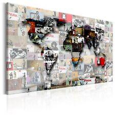 BANKSY COLLAGE STREET ART Wandbilder xxl Bilder Vlies Leinwand k-C-0055-b-a