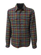 ASPESI giacca camicia uomo reversibile quadri/blu mod CE26 F815 HIGHLAND